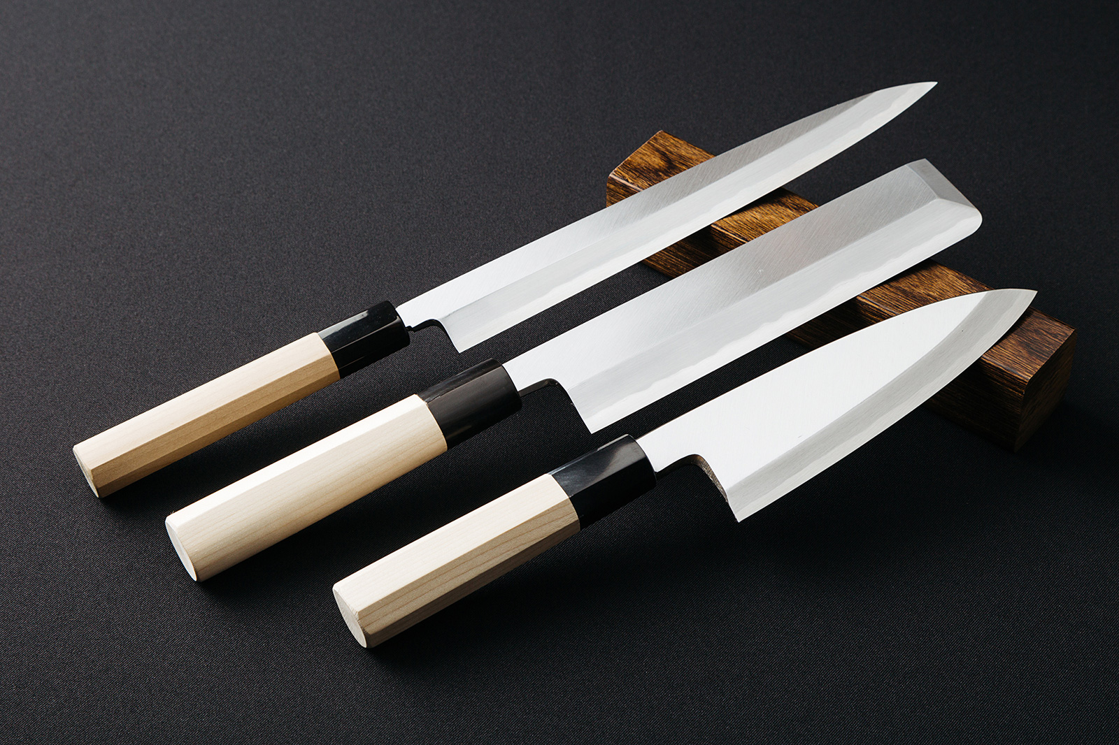 From The Left Knife Used For Sashimi A Vegetables And